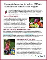 Thumbnail of CSA and Your Early Care and Education Program publication