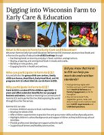 Thumbnail of Digging into Wisconsin Farm to ECE publication