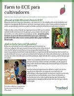 Thumbnail of Farm to ECE para cultivadores publication in Spanish