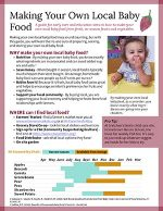 Thumbnail of Making Your Own Local Baby Food publication