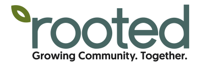 Rooted logo in color